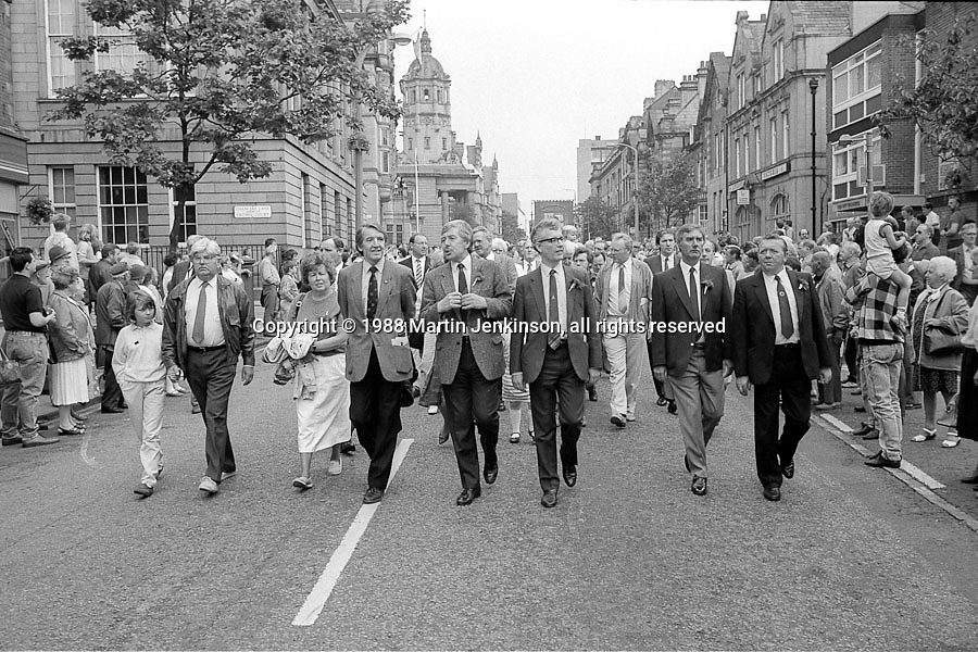 Front Row, 1988 Yorkshire Miner's Gala. Wakefield.