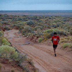 Yazzie Goodman on his morning run.