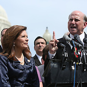 Representatives Michelle Bachmann and Louie Gohmert at Capitol Hill Tea Party Press Conference