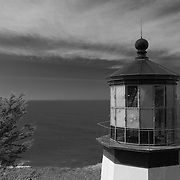 Cape Meares Lighthouse - Oregon Coast - Infrared Black & White