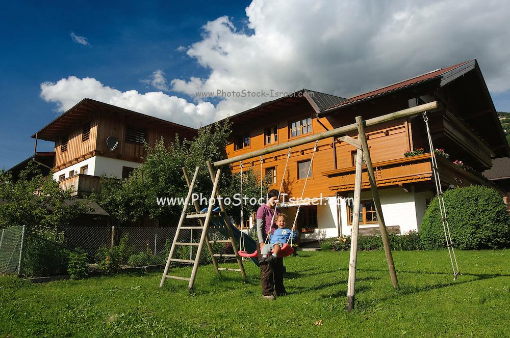 Zillertal, Tyrol, Austria wooden Chalet