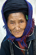 """The Black Hmong are dressed in clothing dyed black with indigo. They are beleived to have migrated to northern Vietnam from China late 1700 and are descendants of the Miao people who fled China. Their Chinese name 'Miao' meaning 'barbarian' the word """"H'mong"""" means 'free people'."""