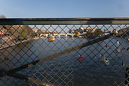 France. Paris.1st district. the pont des arts on the Seine river /, la passerelle des arts sur la Seine