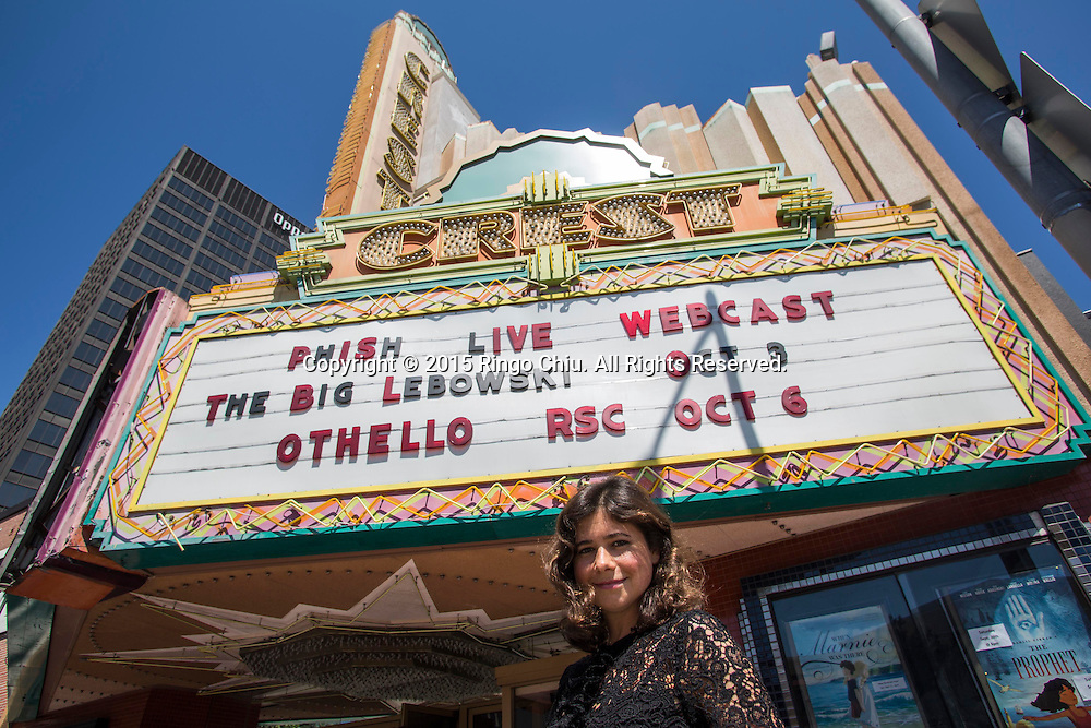 Weezie Melancon, president of the Crest movie theater in Westwood.(Photo by Ringo Chiu/PHOTOFORMULA.com)