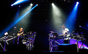 Howard Lawrence and  Guy Lawrence of Disclosure perform live on the NME/Radio 1 stage during day three of Reading Festival at Richfield Avenue on August 25, 2013 in Reading, England.  (Photo by Simone Joyner)