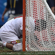 University of Maryland Midfielder WILL BONAPARTE (19) is emotional after University of Maryland falls in overtime during The NCAA Division I NATIONAL CHAMPIONSHIP GAME to North Carolina 14-13, Monday, May. 30, 2016 at Lincoln Financial Field in Philadelphia, Pa.