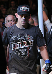 Las Vegas, NV - December 29, 2012: Joe Lauzon walks to the octagon for his bout against Jim Miller at UFC 155 at MGM Grand Garden Arena in Las Vegas, Nevada.