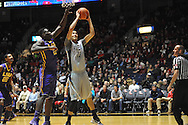"Mississippi's Anthony Perez (13) vs. LSU's Johnny O'Bryant III (2) at the C.M. ""Tad"" Smith Coliseum in Oxford, Miss. on Wednesday, January 15, 2013. Mississippi won 88-74 in overtime."