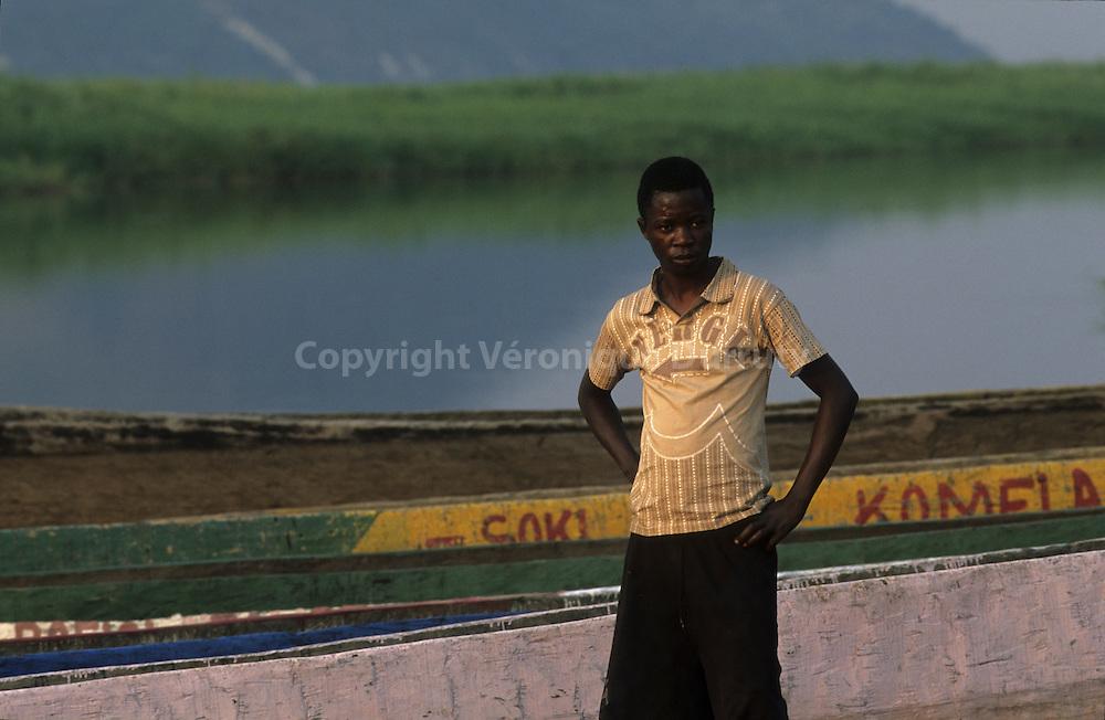 TEENAGER ON FAIGNON ISLAND, CONGO RIVER, CONGO