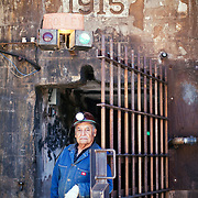 """Sonny Tovar was born in Bisbee in 1935. He was 40 years old when the Queen Mine closed. He is now one of several retired miners who give daily tours of the mine. He says he still loves the smell of the mine. """"I enjoy the tours. I knew what I was talking about. I would put my heart into it. I felt proud to be a miner."""""""