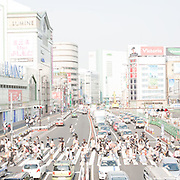 The appearance of the Overexposed City of Tokyo is a sign of the future de-urbanization of the planet, or at least the disappearance of the city as we know it. The city itself is a world of information and technology ever being built and rebuilt.  It is a radically intense and dynamic city, the aspect of which is being continually reconstructed by electronic screens progressing to further our drawn out existence. Things become so luminescent that we wont be seeing structures, things will seem transparent, like living in a virtual reality of space and time.  Incorporating daily life contrives the vision to see things white and fluid, making it seem that its disappearing before our eyes.  Things seem constant yet evoke a perception of nothingness, a fear of losing the translation of real time, real space and real reality.  Image © Angelos Giotopoulos/Falcon Photo Agency ..