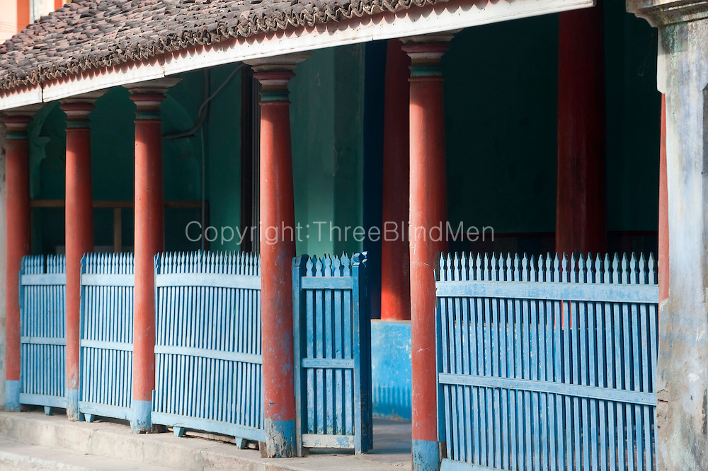 Balustrade in Blue. Thittacheri