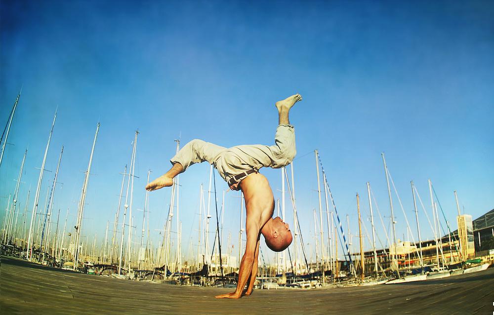 Wari Om at the Port Olimpic, Barcelona