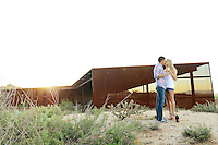 Shane and Amy's share a kiss in the desert. (Photo by Jennifer Stewart)