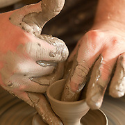 Pottery craft workshop in Kaszebe region in northern Poland owned by Necel family for generations ph