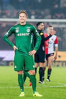 ROTTERDAM - Feyenoord - FC Groningen , Voetbal , Eredivisie , Seizoen 2016/2017 , Feijenoord stadion de Kuip , 11-02-2017 ,  Eindstand 2-0 , FC Groningen speler Kasper Larsen baalt
