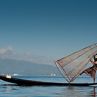 Burmese Fisherman on Inle Lake