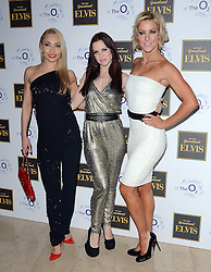Iveta Lukosiute, Joanne Clifton and Natalie Lowe attend Elvis At The O2 Gala Night at The O2, Peninsula Square, London on 15th December 2014