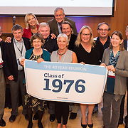 Alumni gather for a dinner in the Hemmingson Center Ballroom Oct. 9 as part of their reunion. (Photo by Edward Bell)