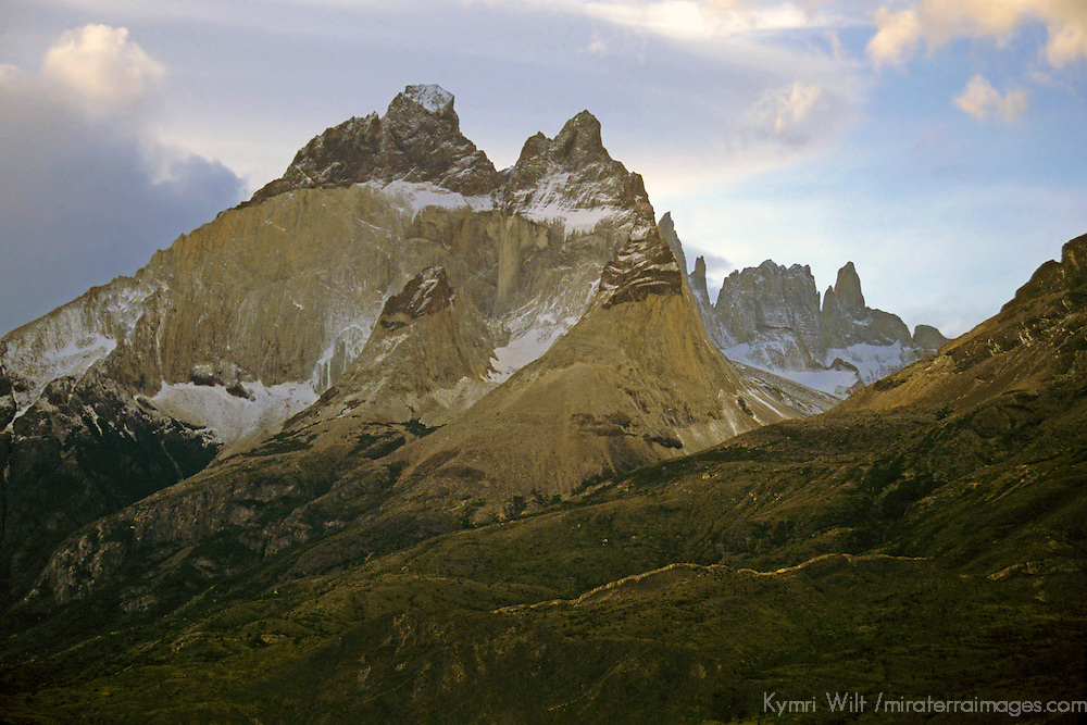 South America, Chile, Patagonia. Majestic scenery of Torres del Paine National Park.