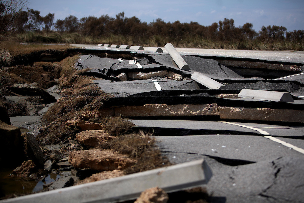 $600,000 had been put into the renovating of facilites at Sea Rim State Park after Hurricane Rita.  The park was scheduled to reopen in fall of 2008, but Hurricane Ike destroyed the park once again.  Photographed Saturday September 20, 2008.