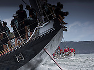 """The SOLAS Race. Sydney Harbour. Pictures of the new Maxi """"Comanche"""" skippered by Ken Reed (USA and local Maxi """"Wild Oats"""" rCredit: Lloyd Images"""