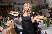 Radio DJ Sara Cox  hosts a pop up supper, Oxfam
