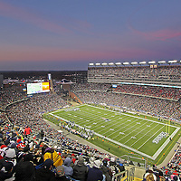 NFL New England Patriots and fans at Gillette Stadium in Foxborough, Massachusetts. <br />