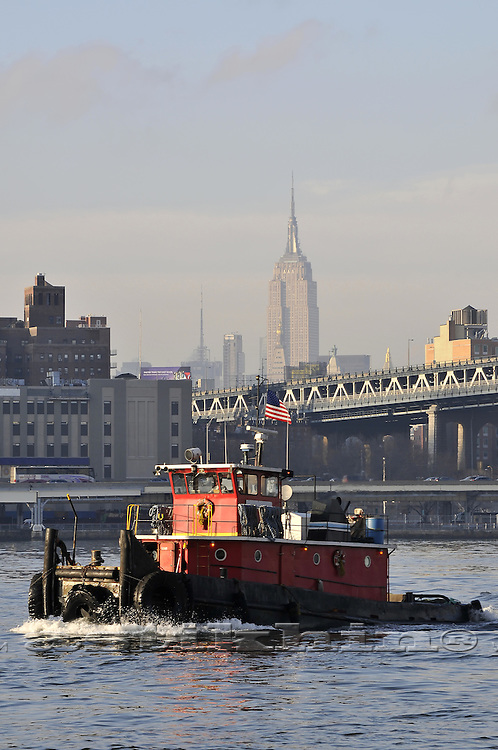 Tugboat on East River