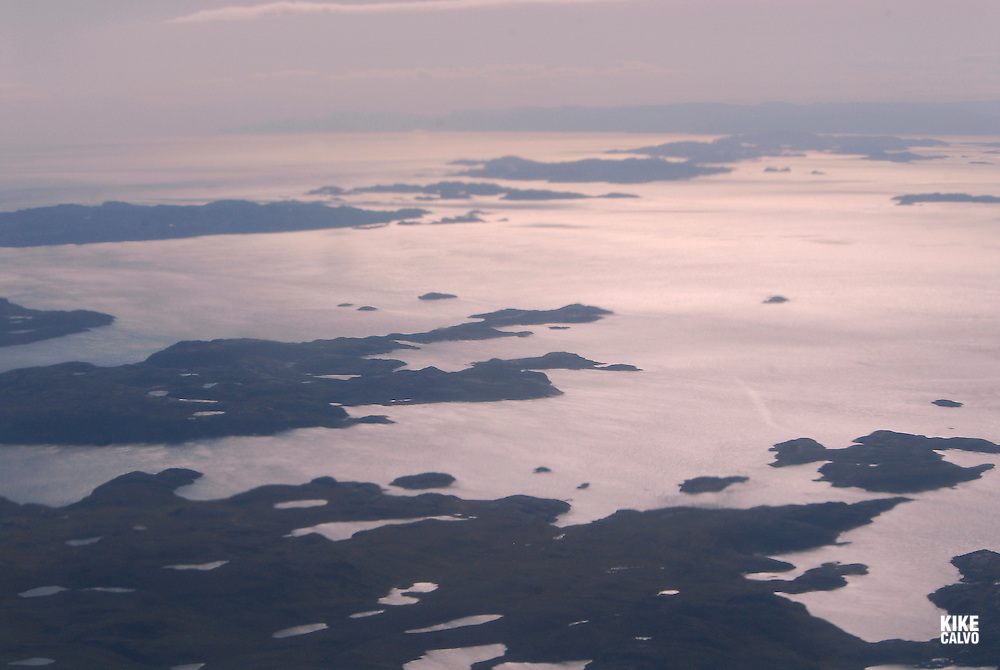 Aerial views of Nunavut Territory. High Arctic in the summer time. Canada<br />