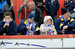 Fans - Mandatory byline: Neil Brookman/JMP - 28/11/2015 - FOOTBALL - ST James Park - Exeter, England - Exeter City v Bristol Rovers - Sky Bet League Two