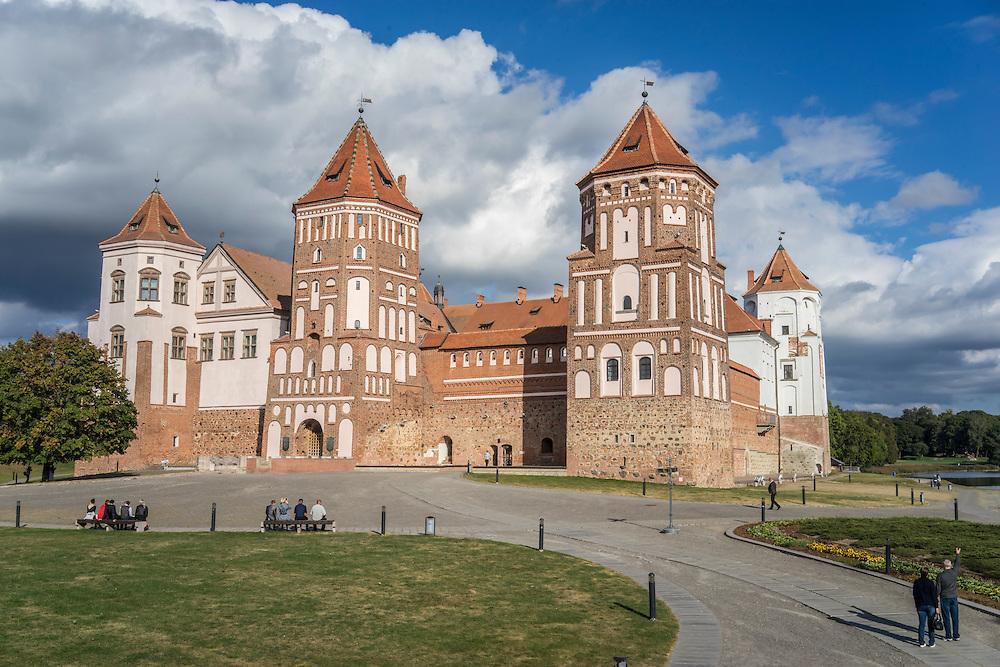 Mir Castle on Friday, September 16, 2016 in Mir, Belarus.