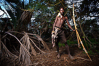 The Hadzabe, or Hadza, are one of the last tribes of hunter-gatherers in the world.  They live around Lake Eyasi and the Serengeti Plateau and today, number 1000-2000, although just 300-400 still live a traditional lifestyle. They were once thought to be related to the San of southern Africa, but modern genetic studies link them to the pygmies of west and central Africa.<br /> <br /> The Hadzabe are superb opportunistic hunter-gatherers.  They hunt animals, and collect honey, fruit, tubers and berries for food.  They also use a wide variety of plant species for medicinal purposes.<br /> <br /> The future of the Hadzabe is very uncertain.  Their existence is threatened by land encroachment by farmers and herders, lack of game to hunt, diseases including TB and HIV/AIDS and substance abuse.