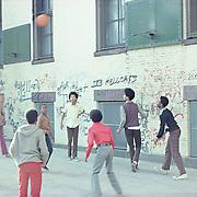 Basketball Game.  Harlem, New York 1973