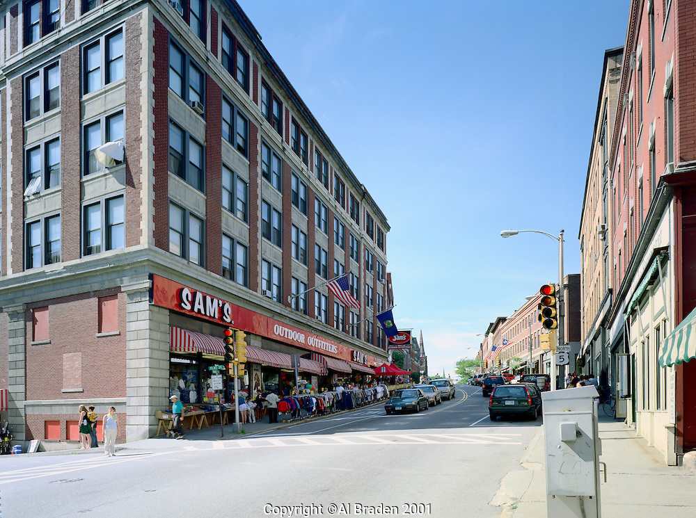 Downtown stores, Brattleboro, VT