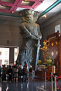One of The Four Heavenly Kings helps keep the monastery safe.
