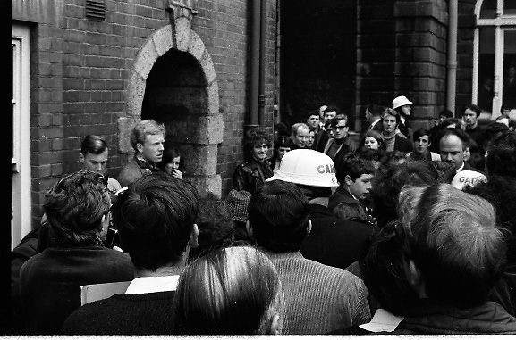 Belgian Royals King Baudouin and Queen Fabiola at Trinity College Dublin. Students and Gardai clash during a demonstration by students during the Royal Visit..15.05.1968