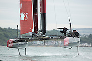 Image licensed to Lloyd Images <br /> Pictures of the Emirates Team New Zealand Americas Cup team, shown here training in the UK onboard their new AC45 foiling cup yacht, prior to the start of the World series next month.<br /> Credit: Lloyd Images/ETNZ