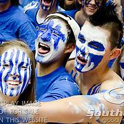 Duke fans ready for tipoff versus UNC. Duke beats UNC 79-73 at Cameron Indoor Stadium Durham NC
