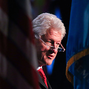 Keynote Speaker President Bill Clinton addresses the audience at Senator Coons Third annual Opportunity Africa conference Monday, Mar 10, 2014 at Chase Center on the Riverfront in Wilmington Delaware