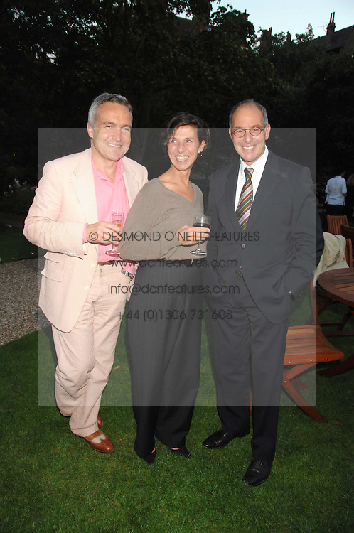Left to right, STEPHEN &amp; FLO BAYLEY and LOYD GROSSMAN at a party to celebrate the 100th issue of Waitrose's Food Illustrated magazine held at The Physic Garden, Chelsea, London on 13th September 2007.<br /><br />NON EXCLUSIVE - WORLD RIGHTS