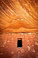 Granary and sandstone ceiling at Moon House Ruin, an Ancestral Puebloan site on Utah's Cedar Mesa.