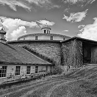 Round barn at Hancock Shaker Village.