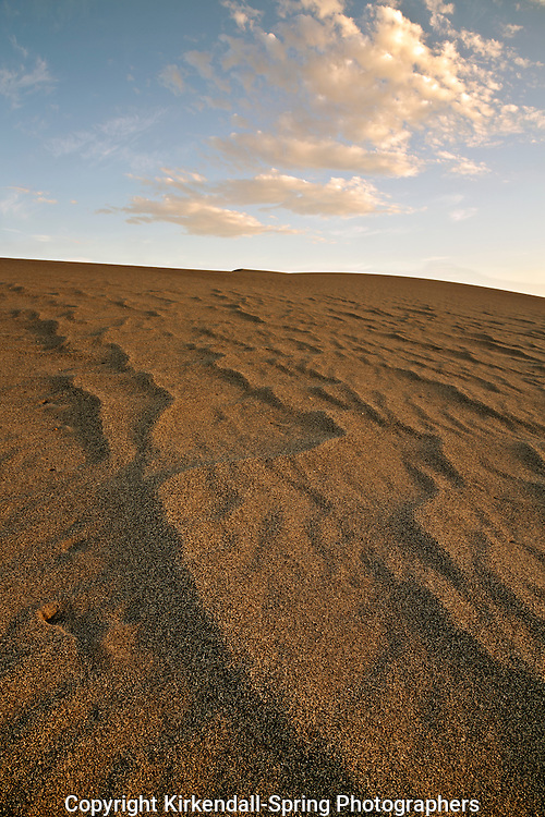 ID00649-00...IDAHO - Sunset on the sand at Bruneau Dunes State Park near Mountain Home.