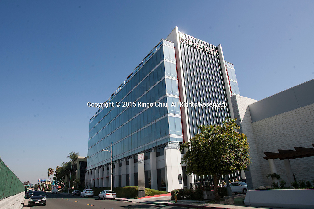 The Cathay Bank headquater in El Monte, California.