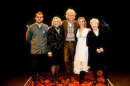 Bob Geldof, Sinéad Cusack, Lisa Dwan, Peter Campion and Ruth McCabe on the Abbey stage
