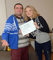 Natalie Dormer, the star of TV's 'Game of Thrones' and 'The Hunger Games: Mockingjay', who is currently in training to run in the Virgin London Marathon for Barnardo's attends Barnardo's at Redbridge. Here she met the young people supported by the Barnard's Leaving Care Charity. During her visit she helped prepare brunch and discussed the issues the youngsters face when leaving care at Barnarod's, Redbridge on Wednesday 2 April 2014