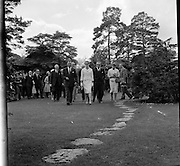 Royal Visit to Ireland by Princess Grace and Prince Rainier of Monaco. The royal couple visit the National Stud at Tully, Co Kildare..11.06.1961