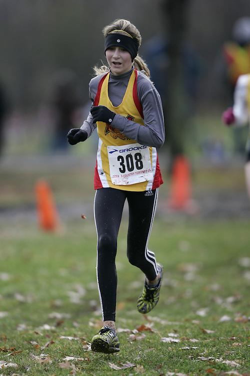 Toronto, Ontario ---16/11/08--- KATEY CODYRE runs in the midget girls race at the 2008 OTFA Cross Country Championships in Toronto, Ontario, November 16, 2008. .GEOFF ROBINS/ Mundo Sport Images