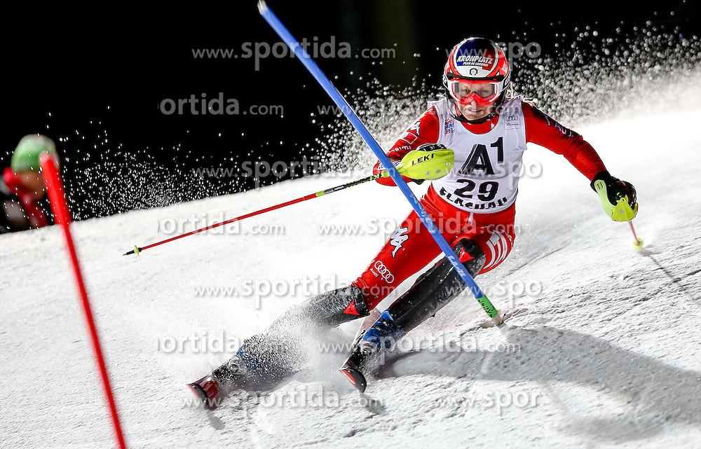13.01.2015, Hermann Maier Weltcupstrecke, Flachau, AUT, FIS Weltcup Ski Alpin, Flachau, Slalom, Damen, 1. Lauf, im Bild Manuela Moelgg (ITA) // Manuela Moelgg of Italy in action during 1st run of the ladie's Slalom of the FIS Ski Alpine World Cup at the Hermann Maier Weltcupstrecke in Flachau, Austria on 2015/01/13. EXPA Pictures © 2015, PhotoCredit: EXPA/ Johann Groder